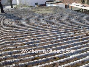 Dachdecker Asbest Wellplatte Dachplatte Eternit 60385