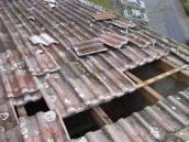 Sturm Windhose Unwetter Dach Schaden Versicherung Dachdecker 60385
