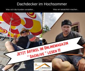 Dachdecker Hitze Frankfurt Sommer Sonnenschutz