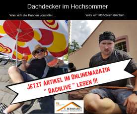 Dachdecker Hitze sommer Dachlive Frankfurt Hitzeschutz