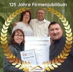 Jubiläum Handwerk Dachdecker  125 Jahre Frankfurt